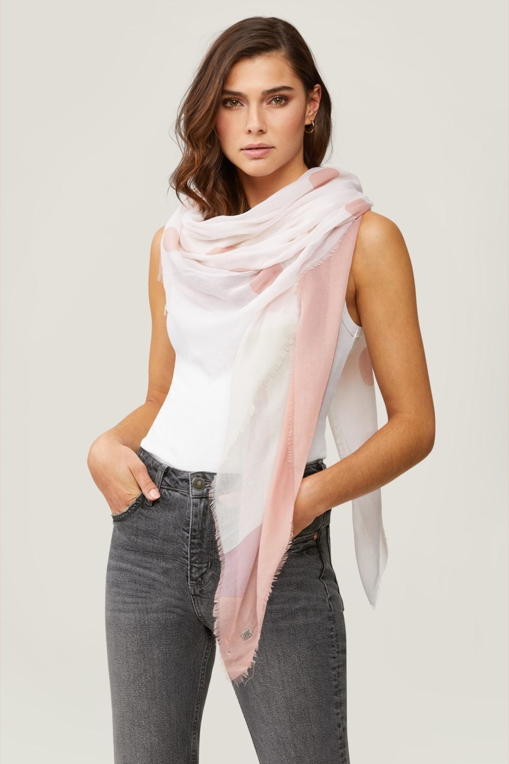 Soia & Kyo Marta Dot Scarf - Front Cropped Image