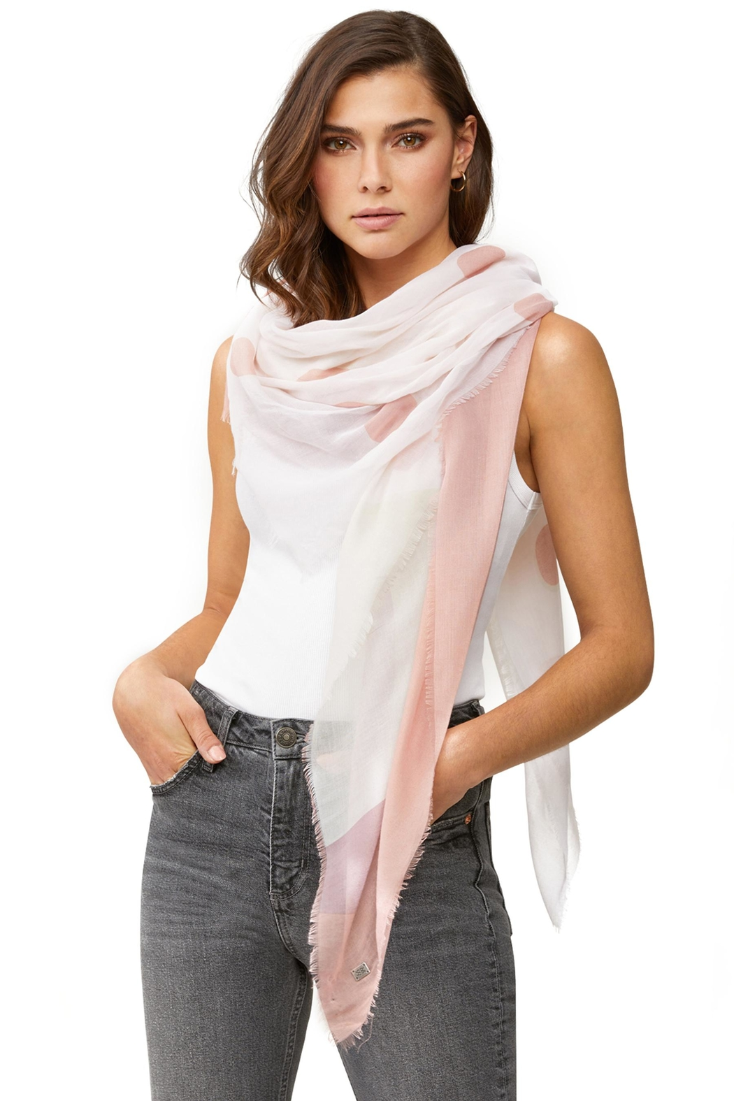 Soia & Kyo Marta Woven Scarf - Front Cropped Image