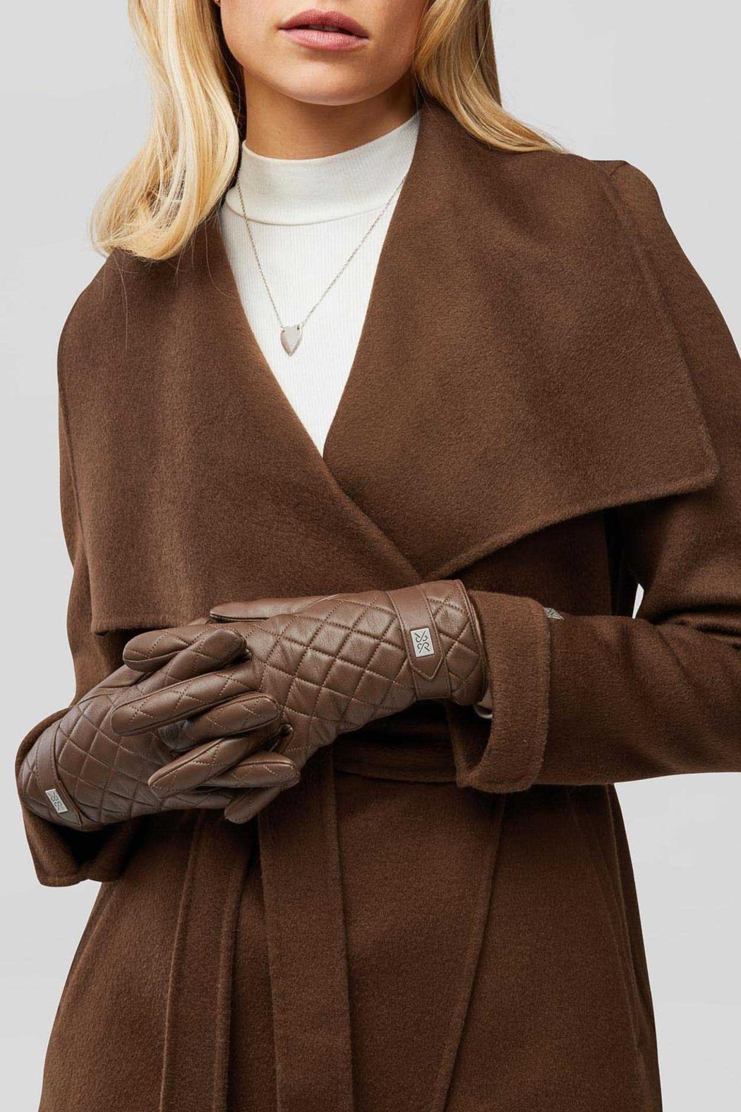 Soia & Kyo Nicole Leather Gloves With Tech-Friendly Tips - Front Cropped Image