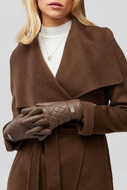 Soia & Kyo Nicole Leather Gloves With Tech-Friendly Tips - Front cropped