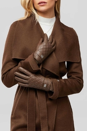 Soia & Kyo Nicole Leather Gloves With Tech-Friendly Tips - Front full body