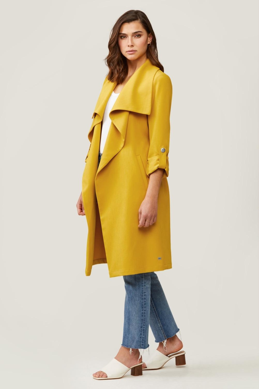 Soia & Kyo Ornella Draped Trench - Back Cropped Image