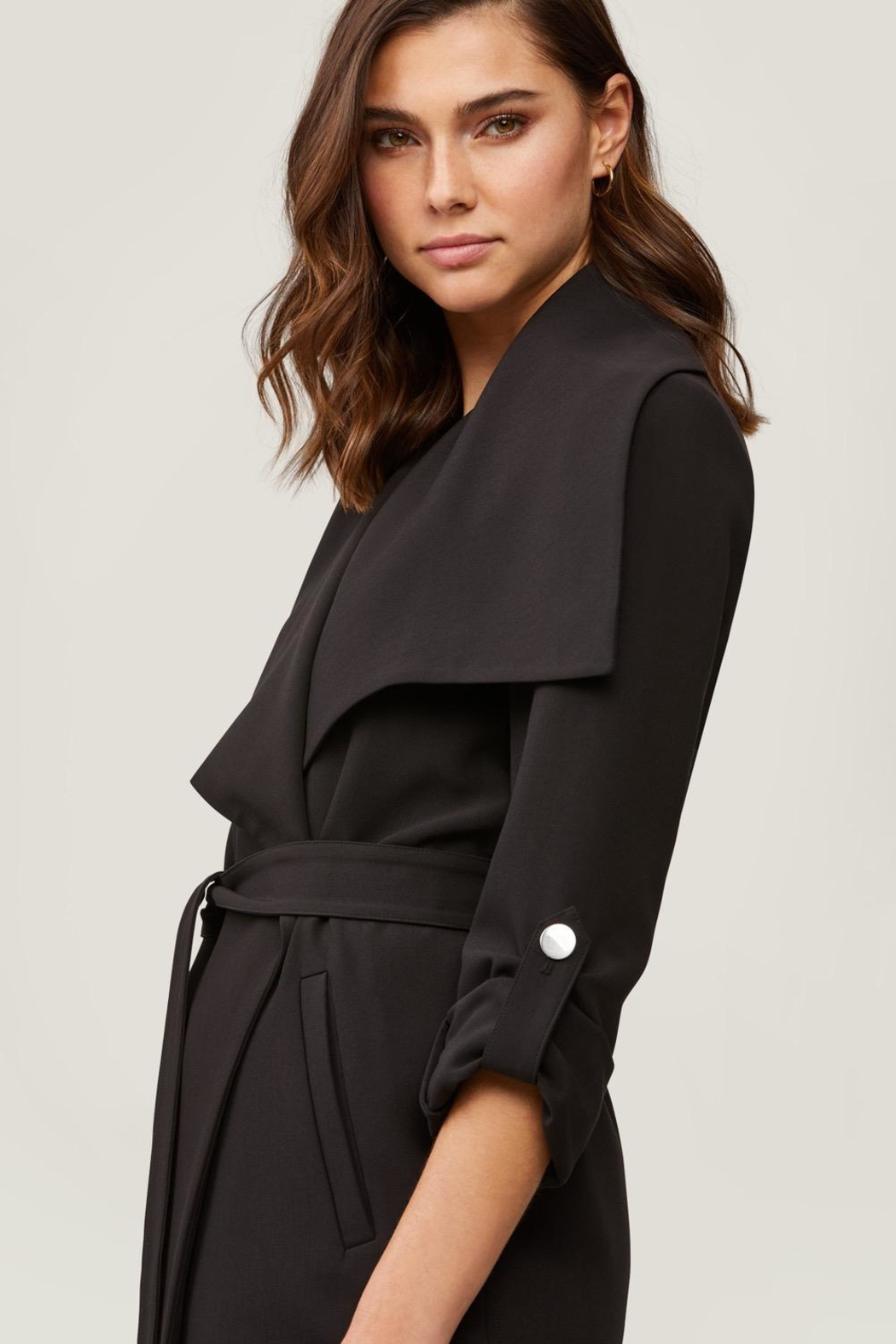 Soia & Kyo Ornella Draped Trench - Front Full Image