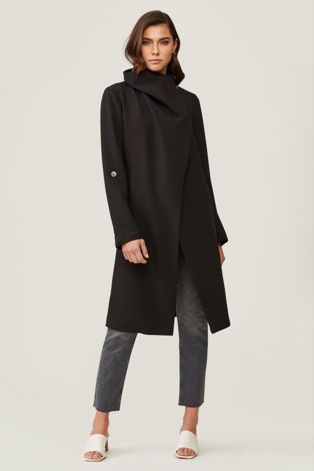 Soia & Kyo Ornella Draped Trench - Side Cropped Image