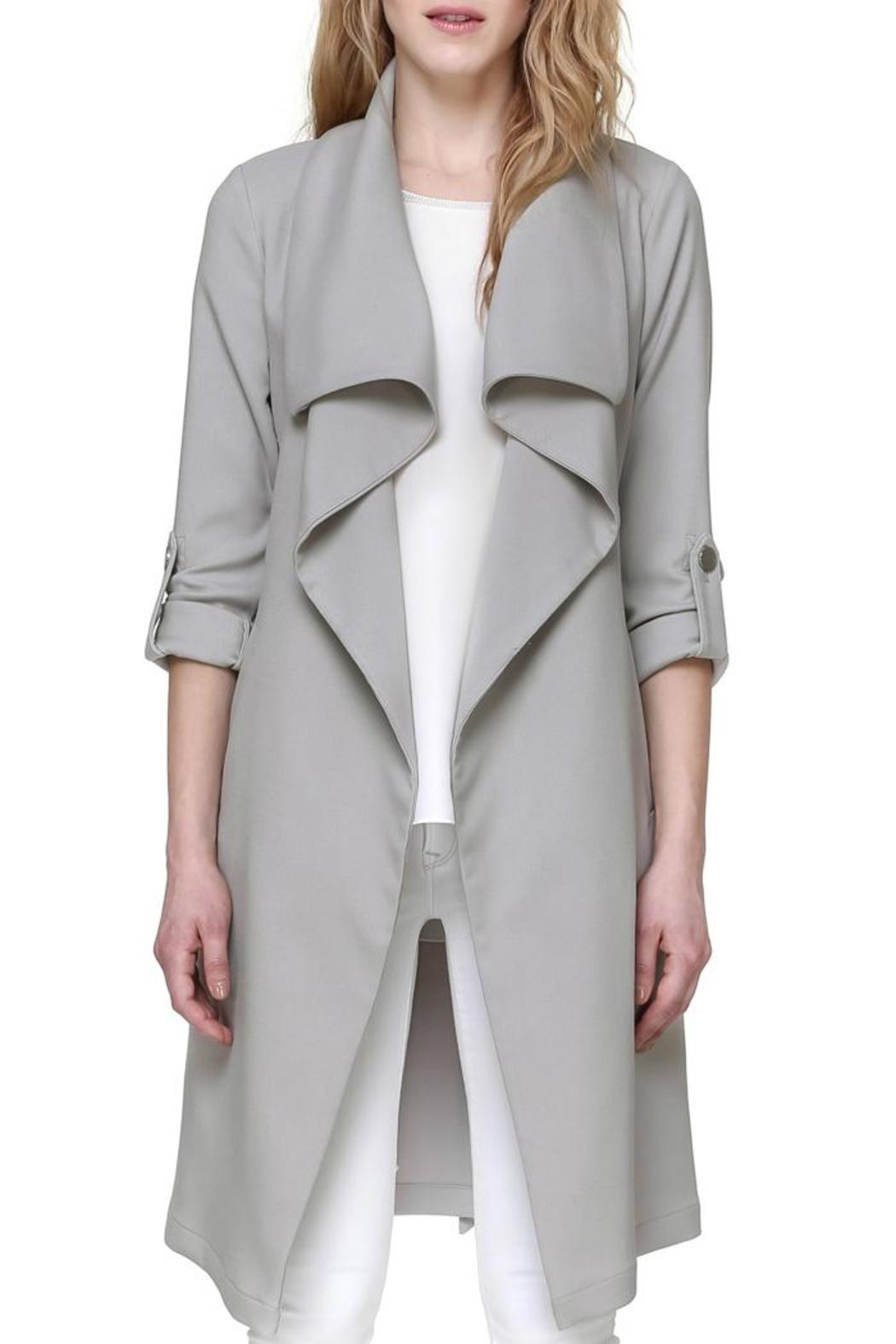 Soia & Kyo Ornella Draped Trench - Front Cropped Image