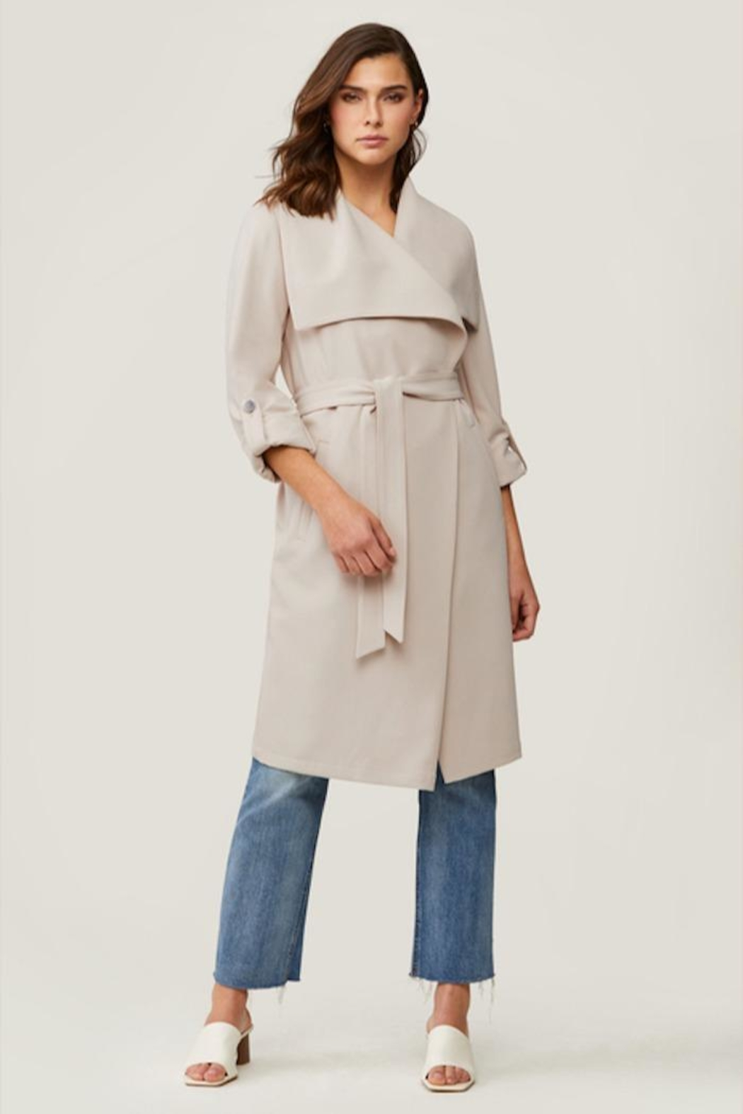 Soia & Kyo Ornella Long Knit Coatigan - Front Cropped Image