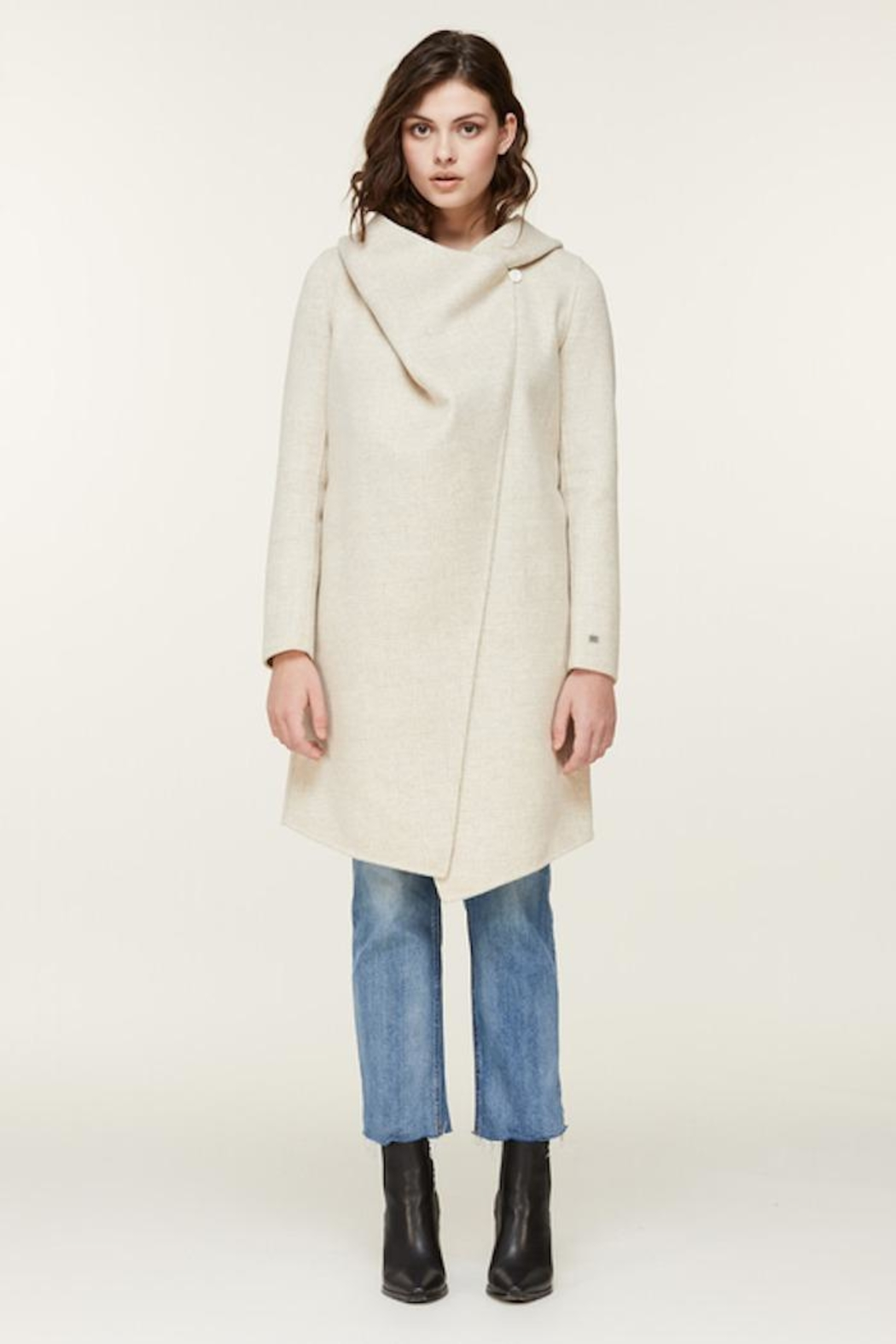 Soia & Kyo Samia-P Belted Wool Coat - Side Cropped Image