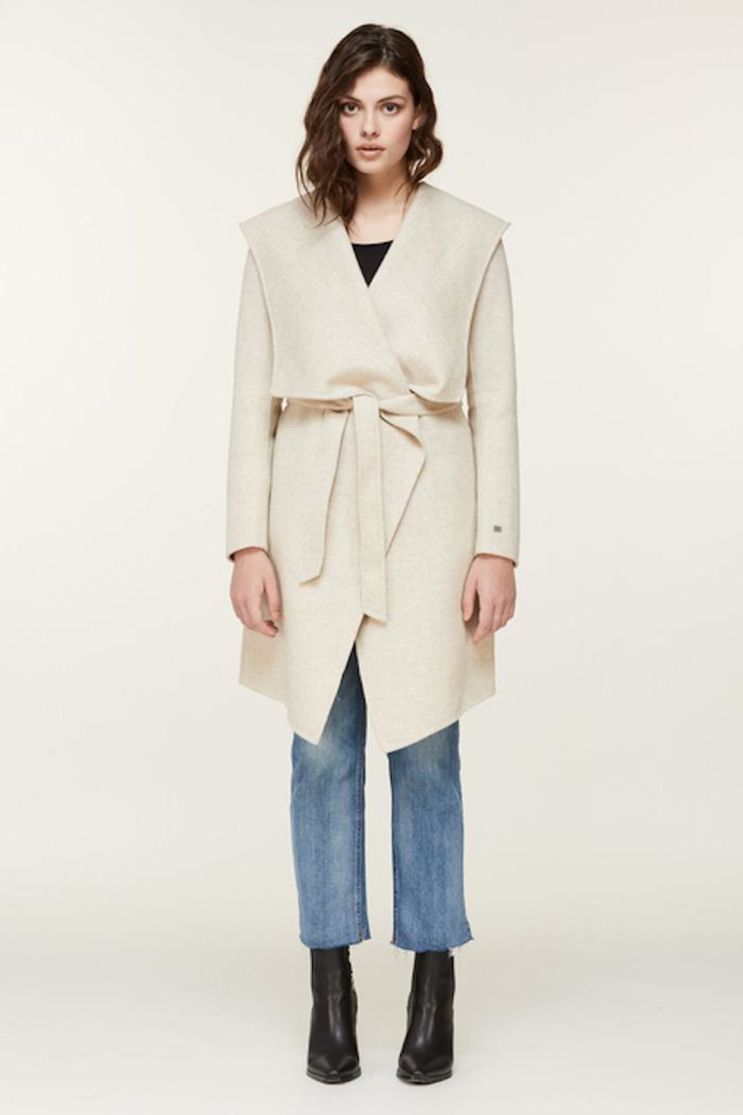 Soia & Kyo Samia-P Belted Wool Coat - Front Full Image