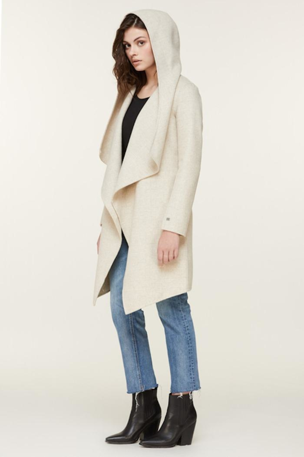 Soia & Kyo Samia-P Belted Wool Coat - Back Cropped Image