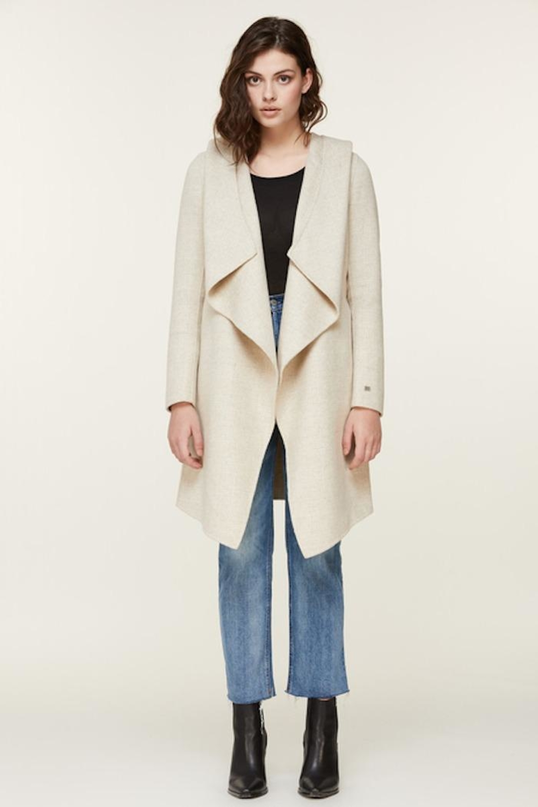 Soia & Kyo Samia-P Belted Wool Coat - Front Cropped Image