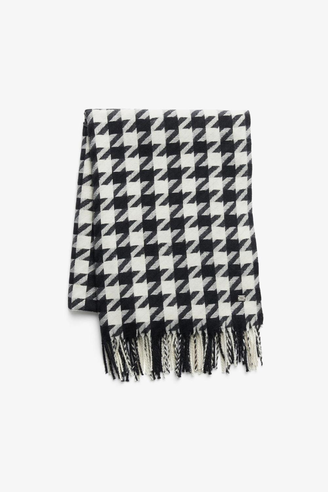 Soia & Kyo Sania Woven Jacquard Scarf With Houndstooth Pattern - Side Cropped Image