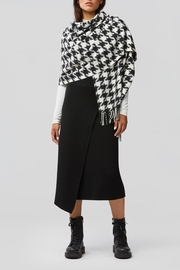 Soia & Kyo Sania Woven Jacquard Scarf With Houndstooth Pattern - Front full body