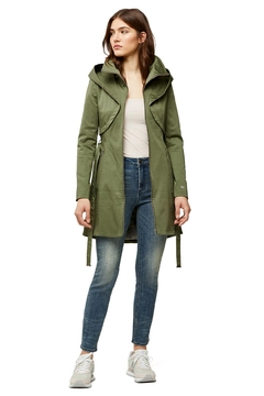 Shoptiques Product: Soia & Kyo Arabella Hooded Trench In Almond