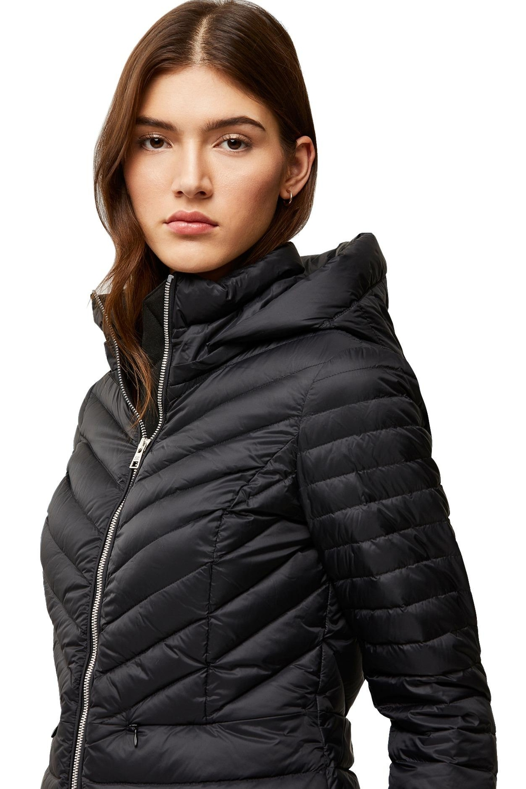 Soia & Kyo Chalee Ladies Hooded Light Down Jacket - Back Cropped Image