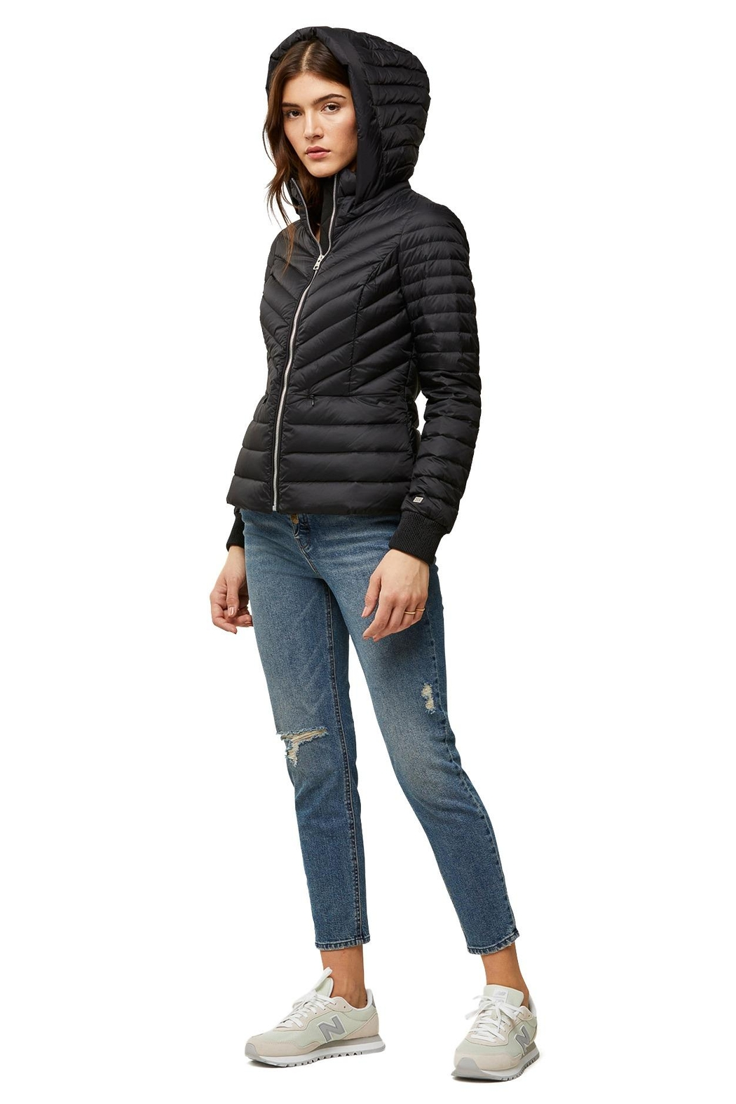 Soia & Kyo Chalee Ladies Hooded Light Down Jacket - Side Cropped Image