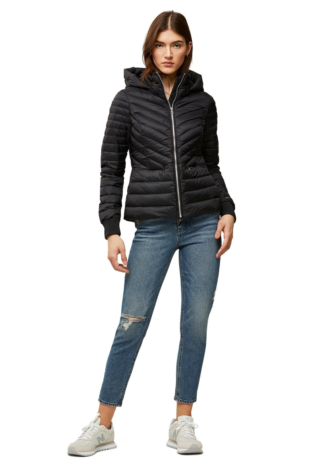 Soia & Kyo Chalee Ladies Hooded Light Down Jacket - Front Full Image