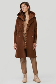 Soia & Kyo Viola-N Double-Face Chestnut Wool Coat - Front cropped