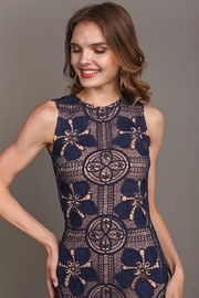 Soieblu Beautiful-Unique Navy Lace - Front full body