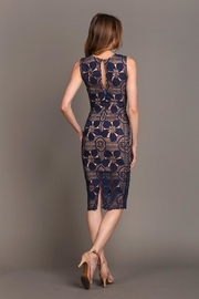 Soieblu Beautiful-Unique Navy Lace - Side cropped