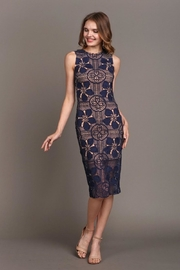 Soieblu Beautiful-Unique Navy Lace - Product Mini Image