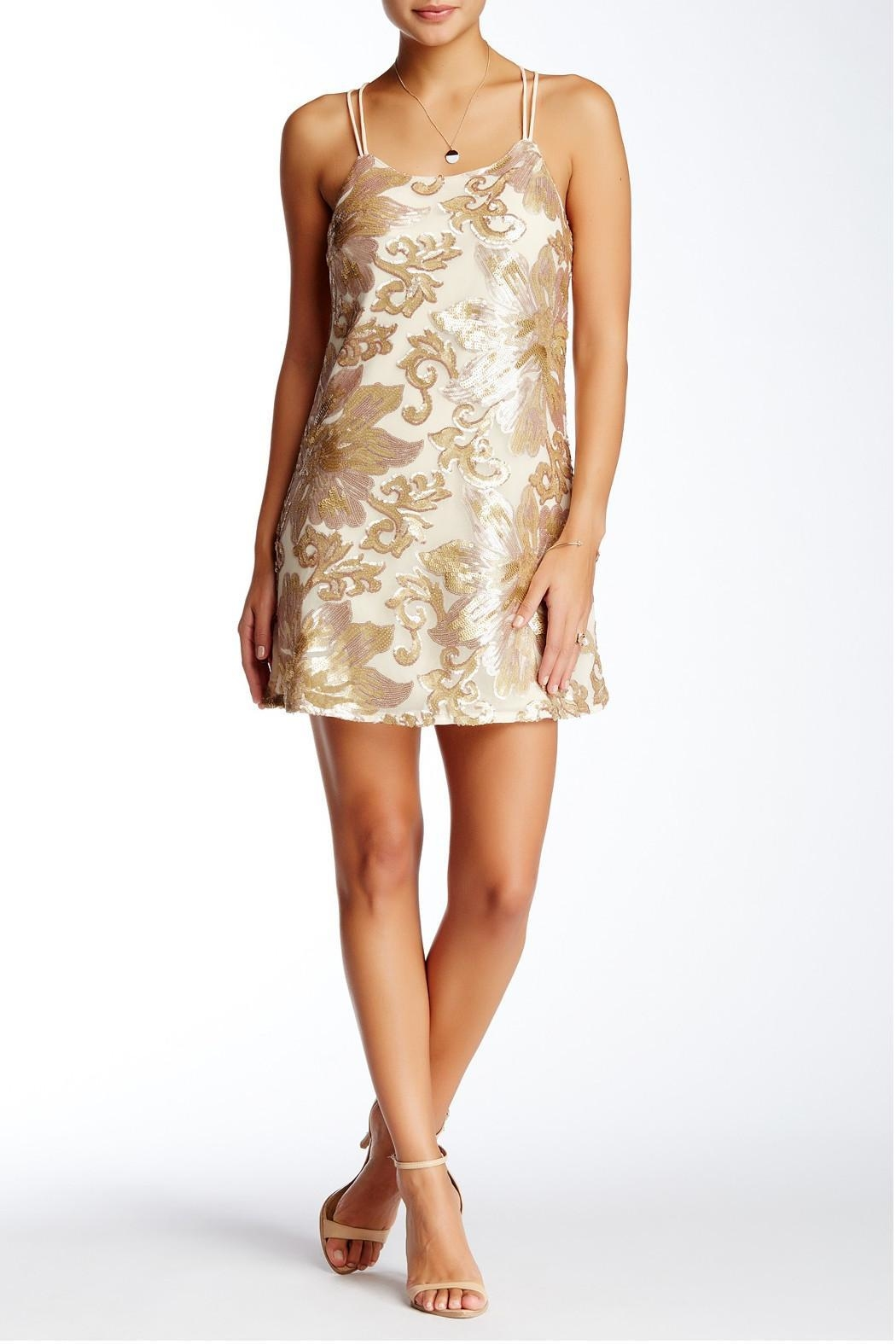 Soieblu Beige Sequins Dress - Main Image