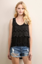 Soieblu Black Embroidered Top - Product Mini Image