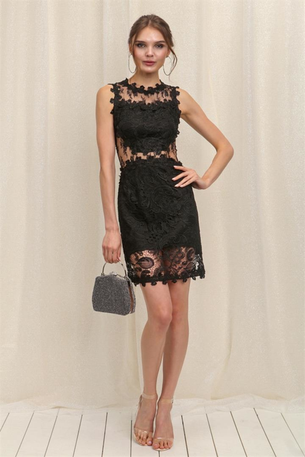 Soieblu Black Lace Dress - Main Image
