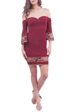 Soieblu Burgundy Off Shoulder Dress - Product List Image