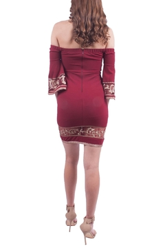 Soieblu Burgundy Off Shoulder Dress - Alternate List Image