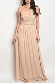 Soieblu Chiffon Beige Dress - Product Mini Image