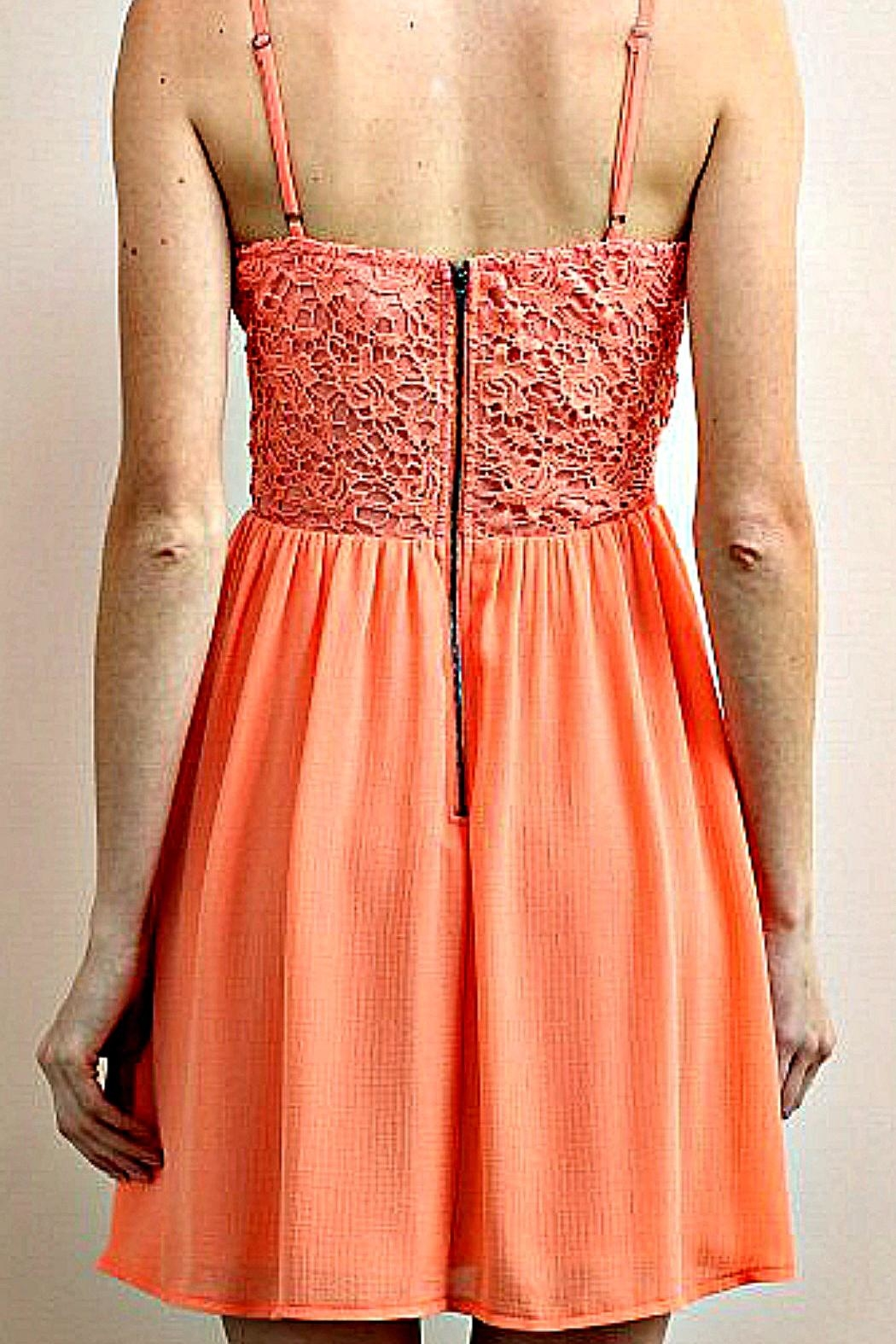 Soieblu Coral Floral-Lace Dress - Side Cropped Image