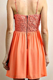 Soieblu Coral Floral-Lace Dress - Side cropped