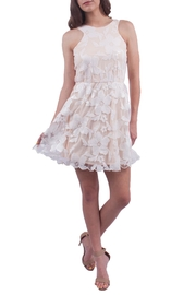 Soieblu Cream Floral Dress - Product Mini Image