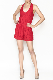 Soieblu Holiday Lace Romper - Side cropped