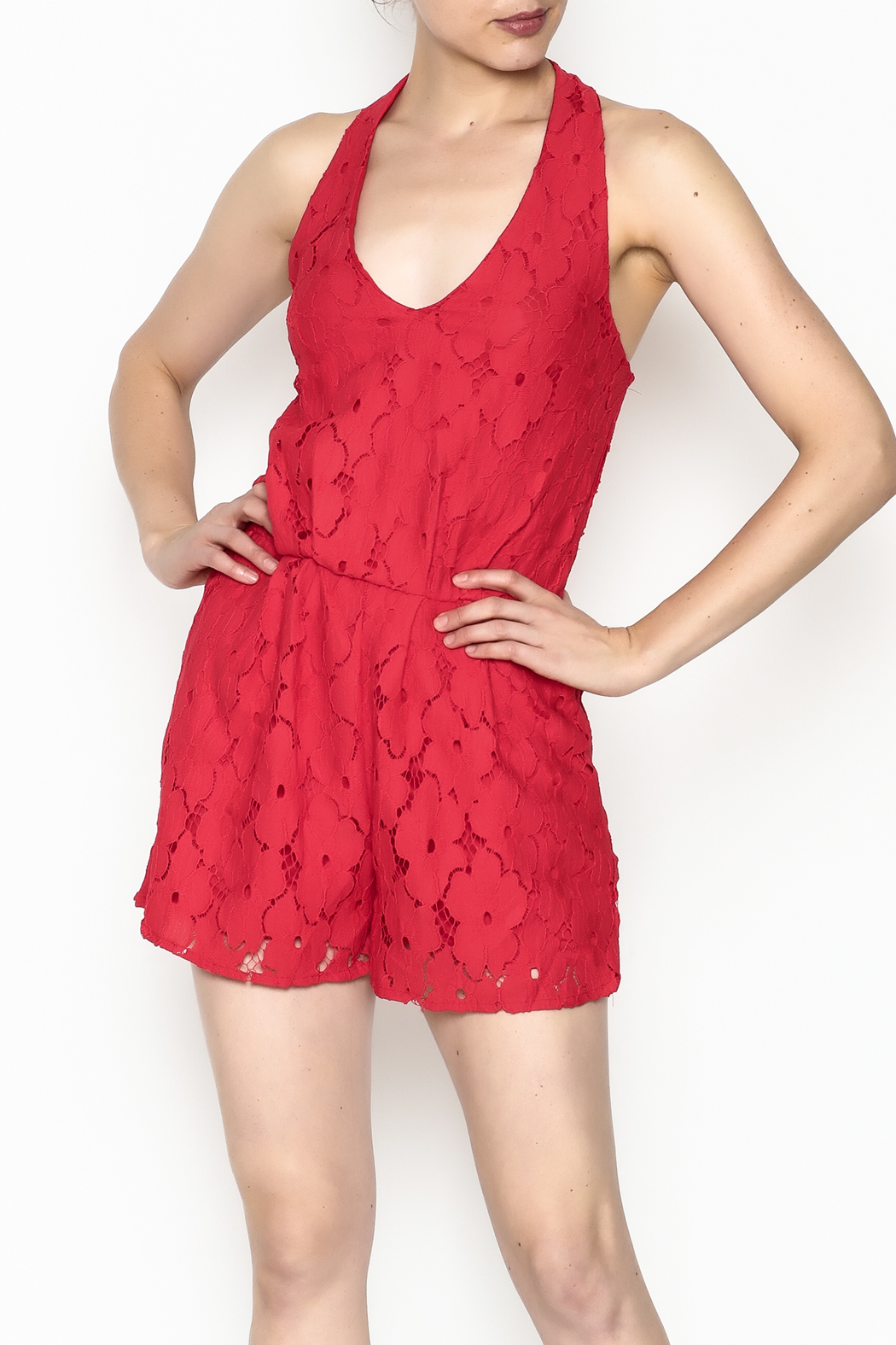 Soieblu Holiday Lace Romper - Main Image