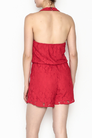 Soieblu Holiday Lace Romper - Back cropped