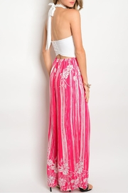 Soieblu Ivory Fuchsia Jumpsuit - Front full body