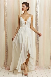 Soieblu Ivory Lace Maxi - Front cropped