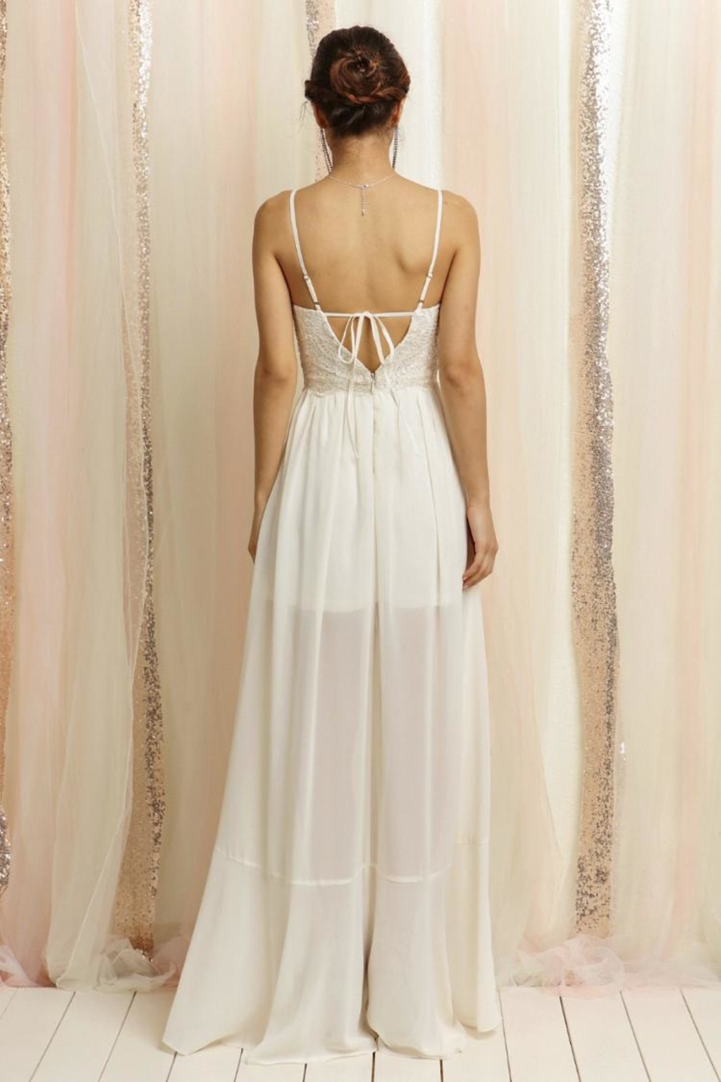 Soieblu Ivory Lace Maxi - Front Full Image