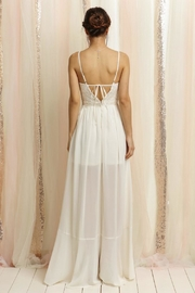 Soieblu Ivory Lace Maxi - Front full body