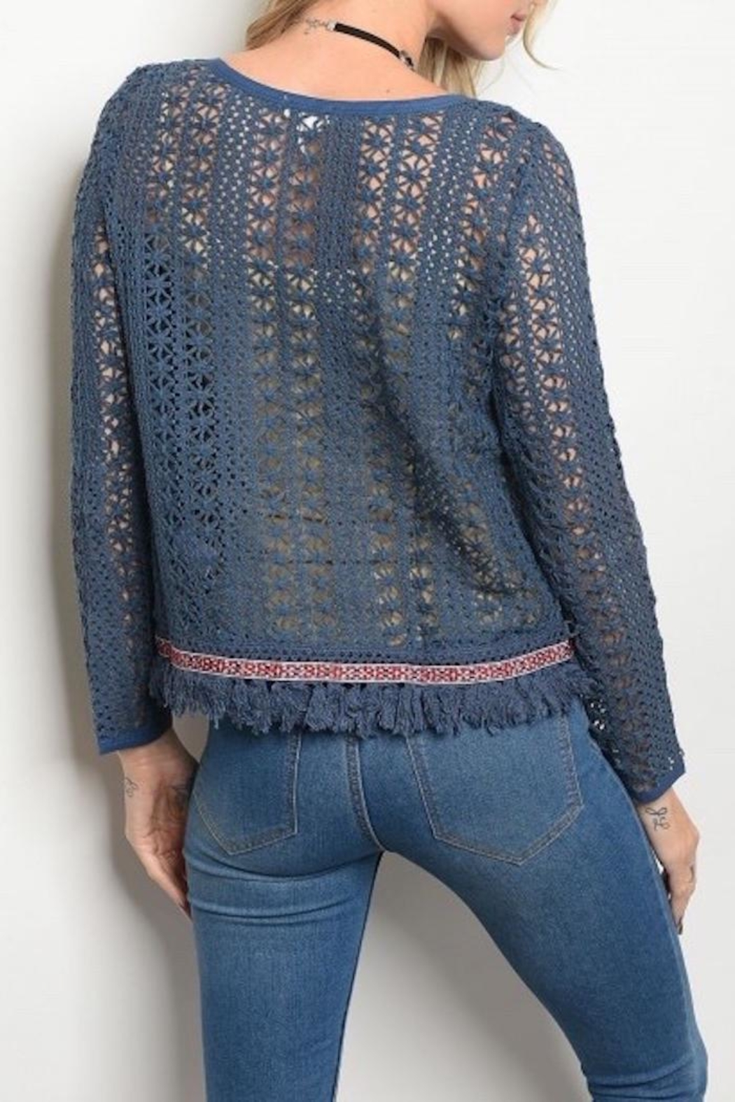 Soieblu Knit Boho Sweater - Front Full Image