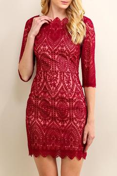 Shoptiques Product: Lace Boat Neck Dress