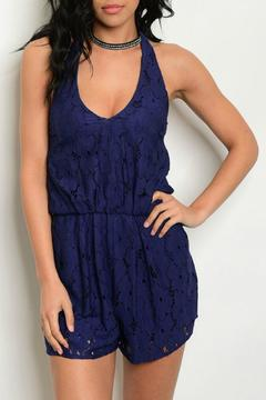 Soieblu Navy Crochet Romper - Alternate List Image
