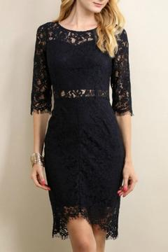 Soieblu Navy Lace Dress - Product List Image