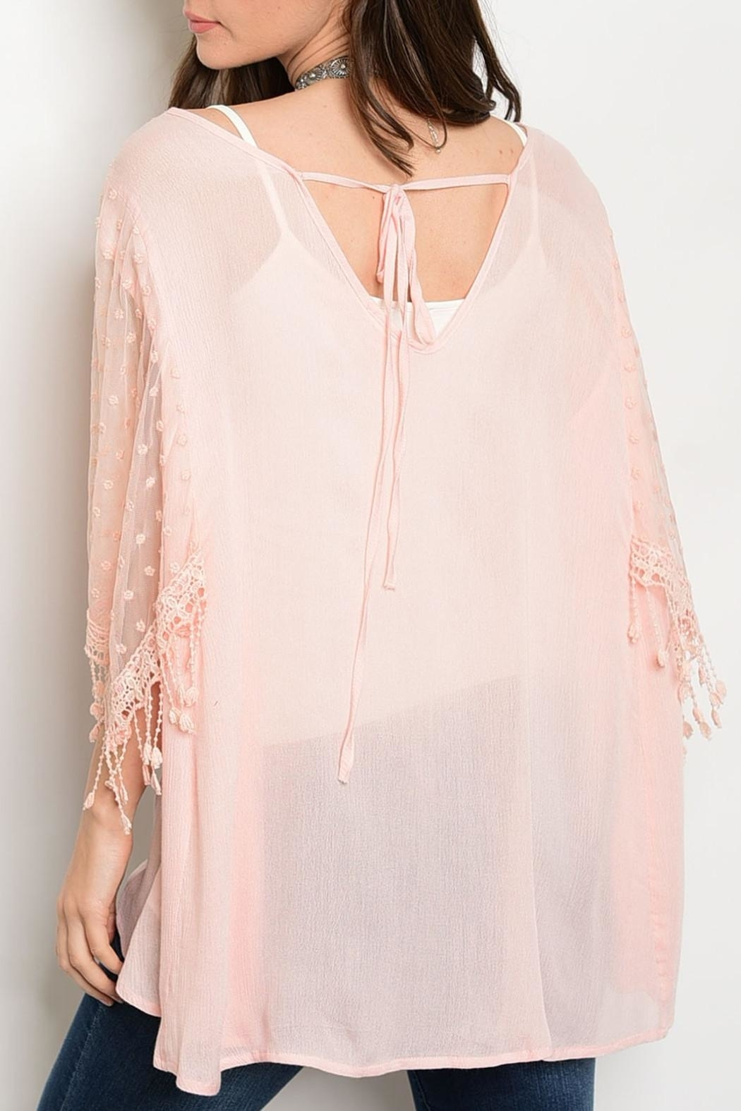 Soieblu Peach Mesh Top - Front Full Image