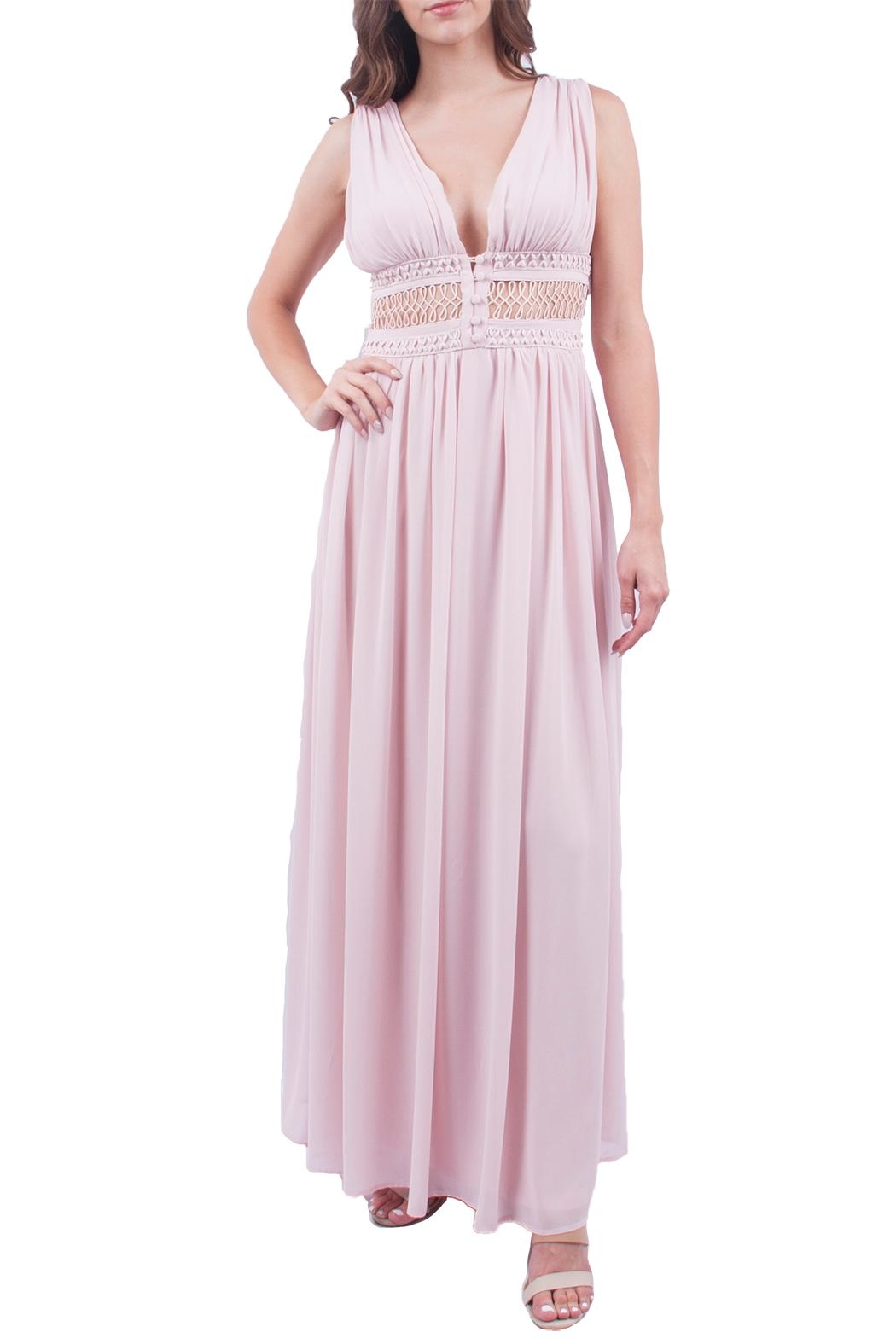 Soieblu Blush Maxi Dress - Front Cropped Image