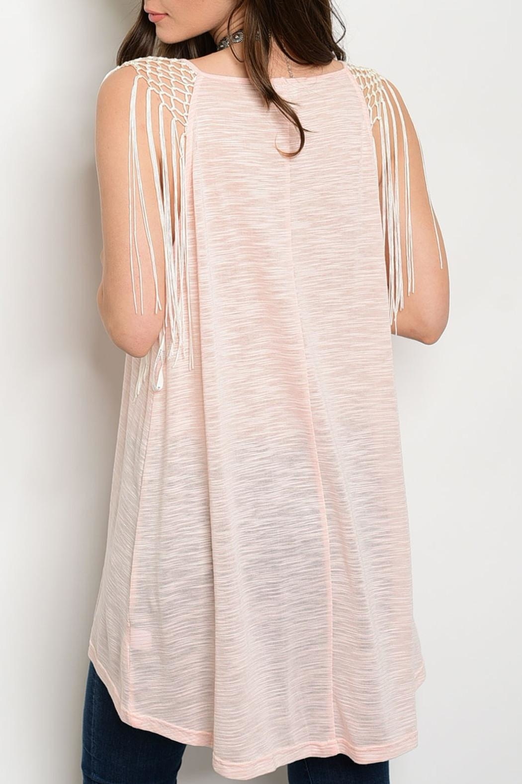 Soieblu Pink Tunic Top - Front Full Image