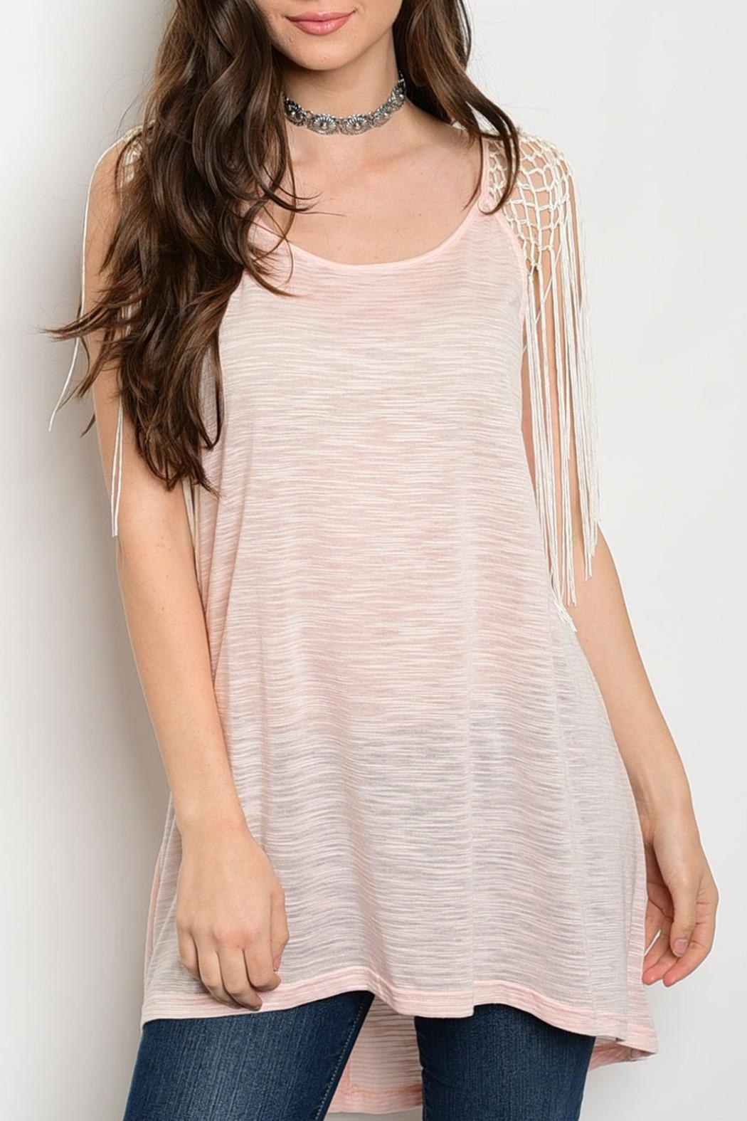 Soieblu Pink Tunic Top - Front Cropped Image