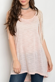 Soieblu Pink Tunic Top - Front cropped