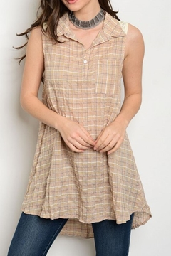 Shoptiques Product: Plaid Tunic Top